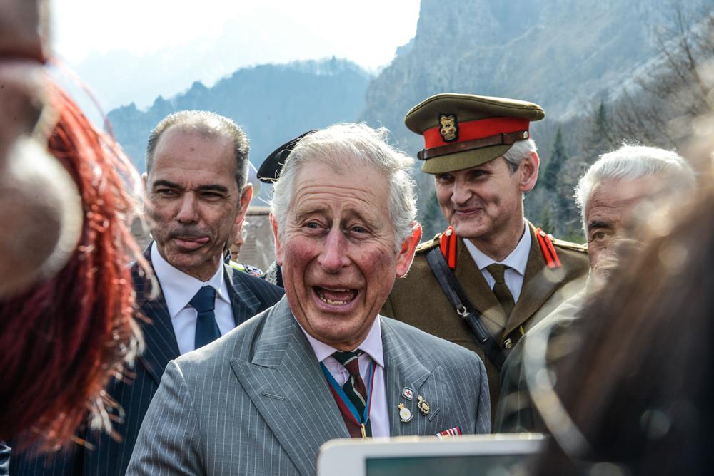 Visita del Reale d'Inghilterra,il principe Carlo