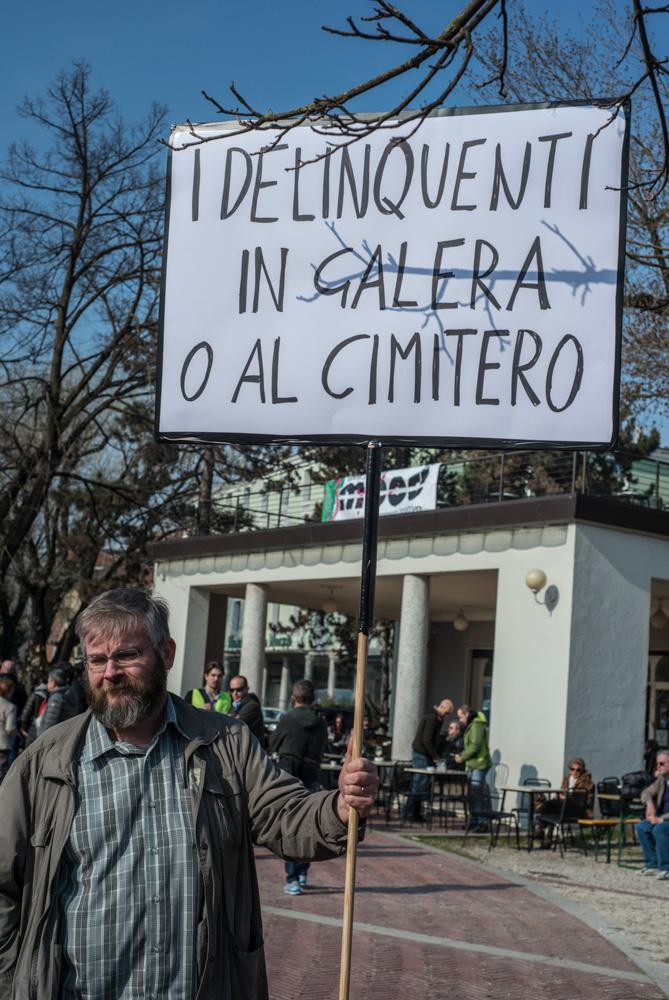 Campo Marzio, Vicenza, Italia2015. Lega Nord. Salvini e Zaia ospiti alla festa della legalità in campo marzio a Vicenza.