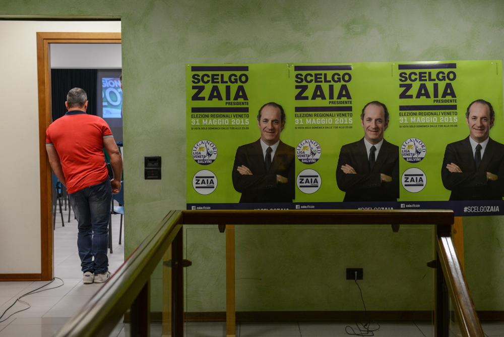 Vittoria elezioni regionali 2015 del candidato per la Lega Nord Luca Zaia